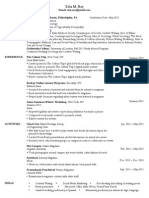 Zola Ray Resume for Website
