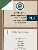 parent information night 2015 ppt