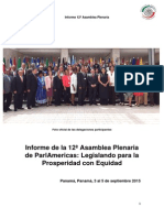 Informe de la 12ª Asamblea Plenaria  de ParlAmericas