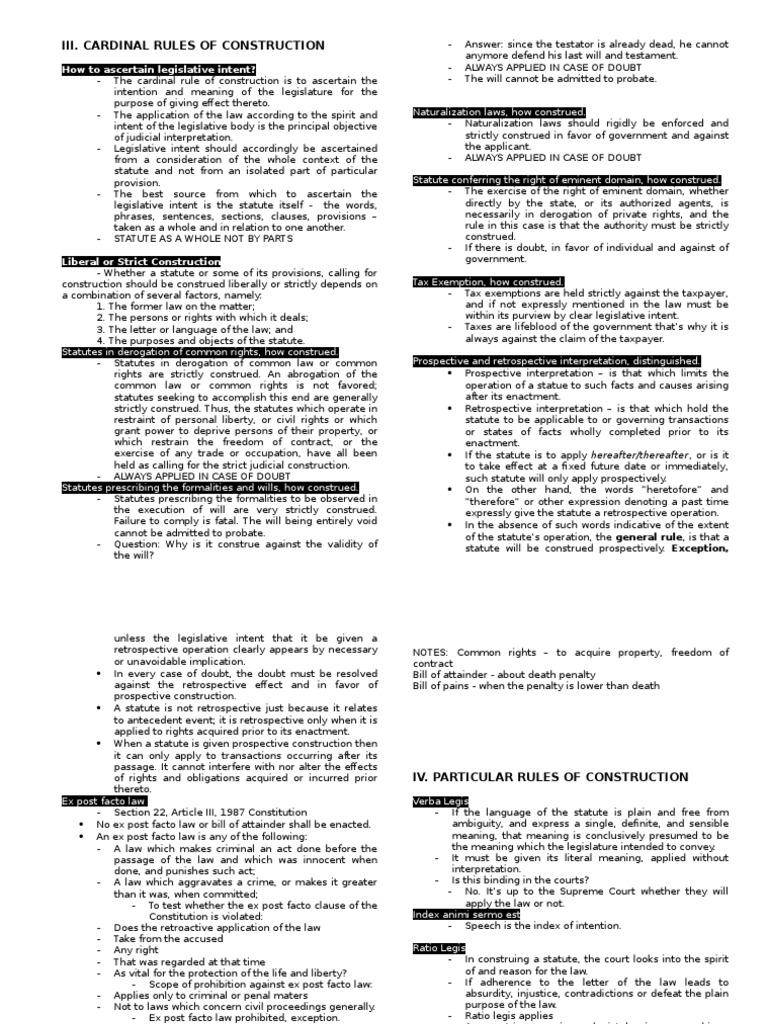 Statcon Midterm - Atty. Gujilde | Ex Post Facto Law | Statutory  Interpretation