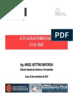 Actualidad Ferroviaria en El Peru CIP Nov 2012
