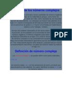 Def. e Historia de Los Num. Complejos