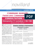 Migno Infos - Octobre 2015 - Commune nouvelle