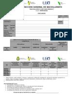 Formato Para El Llenado de Encuadre 2015 - 2016