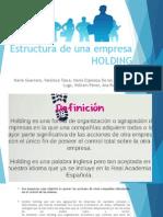 Estructura de Una Empresa HOLDING