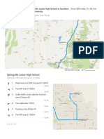 springville junior high school to southern utah university - google maps