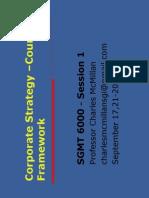 6000 - Week 1 - Corporate Strategy Framework - Sept 2015