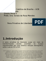 Pena Privativa Liberdade Progress o Regress o