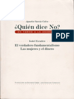 Agustin Garcia Calvo e Isabel Escudero Quien Dice No en Torno a La Anarquia 1999
