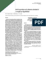 Evaluación de La Calidad de Las Proteínas en Los Alimentos Calculando