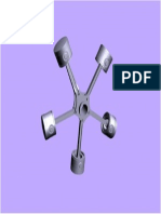 Radial Engine Assembly 3d