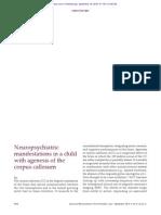 Neuropsychiatriz Manifestations in a Child With AGCC (,2015)