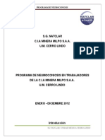Programa de Neumoconiosis 2012