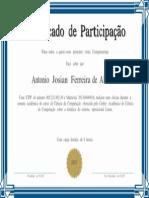 Certificado Antonio