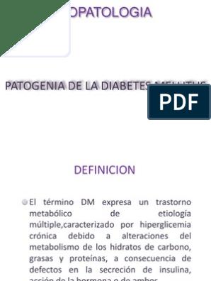 patogenia de la diabetes mellitus