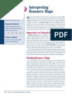 intrepreting resource maps practice