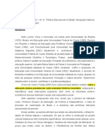 Resenha - Política Educacional No Brasil