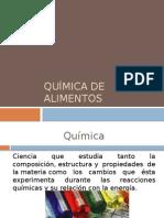 I. Quimica de Alimentos y AGUA