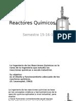 Reactores Químicos Clase1
