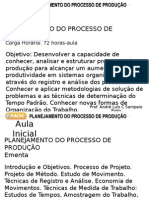 Planejamento Do Processo de Produção - Aula Inicial
