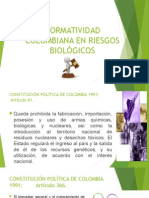 Normatividad Colombiana en Riesgo Biologico