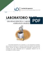 Lab07 - Gravedad Especifica y Absorción de Agregados Gruesos (UPAO) - TECNOCO