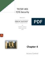 TIF SIF 401 Week 02 Access Control