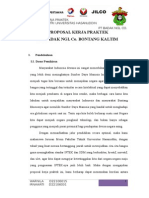 Proposal Kerja Praktek Badak