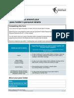 Amendment of Personal Particulars Form