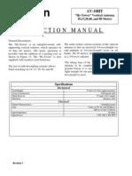 Antena Manual e Torre AV-18HT