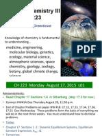 Chemistry 223 Equilibrium Lecture