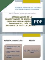 """Determinacion de Acidos Grasos en """"Salvia Hipanica"""" Chia"""