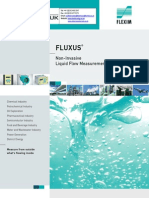 Flexim Fluxus Ultrasonic Liquid Flow Meters ADM Series Brochure English US