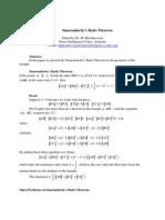 Smaradache's Ratio Theorem