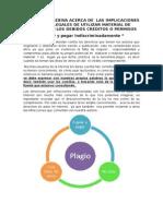 SÍNTESIS REFLEXIVA DE LAS IMPLICACIONES ÈTICAS Y LEGALES DE UTILIZAR MATERIAL DE INTERNET SIN LOS DEBIDOS PERMISOS O CRÉDITOS