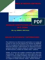 Modelos Constitutivos en El Sigma