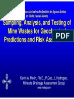 Sampling Analysis Testing Mine Wastes Geochemical Predictions Risk Assessment KMorin