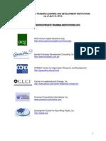 CSC Accredited Private Training Institutions (ATI)