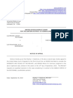 Lisa Michelle Lambert Habeus Notice of Appeal to Third Circuit September 30, 2015