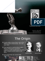 History of Rolls Royce and role in the World Wars