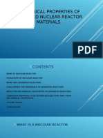 Mechanical Properties of Advanced Nuclear Reactor Materials