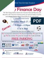 U of a Family Finance Day Flyer-1