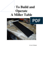 How to Build and Operate a Miller Table.