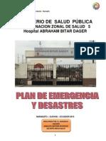 Plan de Emergencia Y DESASTRES 2015