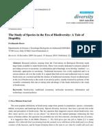The Study of Species in the Era of Biodiversity