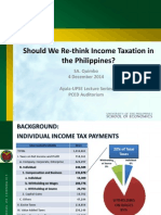 Prof. Stella Quimbo's Should We Rethink Income Taxation in the Philippines?