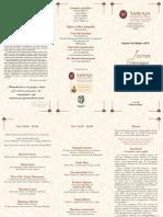 Programma XXVIII Convegno Chitarristico, 10 ottobre 2015, Roma