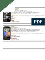 Catalogo HTC y iPhone Apple
