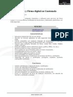 Cifrado y Firma digital Guatemala