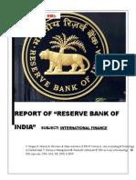 Rbi Report